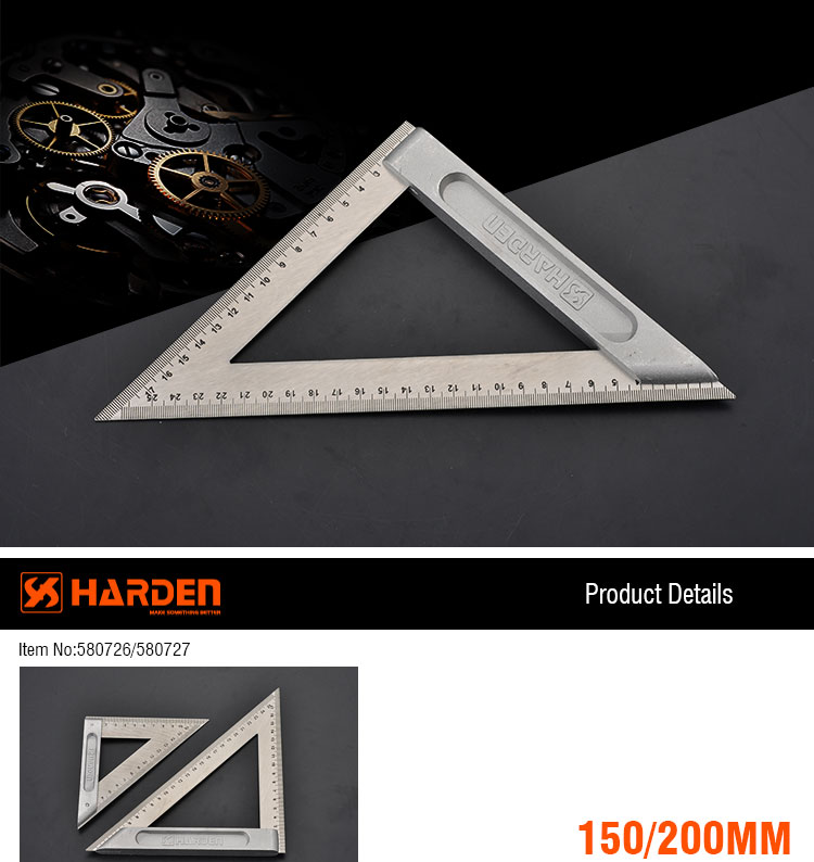 Engineering Multifunctional Adjustable Square Drawing 150mm Stainless Steel  Metric Triangle Ruler - Buy Stainless Steel Metric Triangle Ruler,Triangle