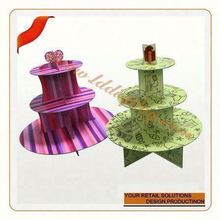 Hot sale collapsible cardboard princess cupcake stand