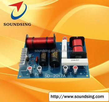 two way pive crossover with tweeter automatic protection (SD-2017A), Usd Way Crossover Wiring Diagram on 2-way speaker crossover circuit, 2-way 3 speakers wiring, 2-way electronic crossover,