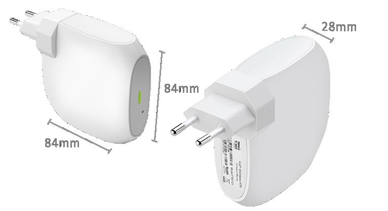 Flyingvoice 1 WAN 1 LAN 100 BASE-T, 802.11 b/g/n 2T2R VoIP WiFi ATA FTA1101