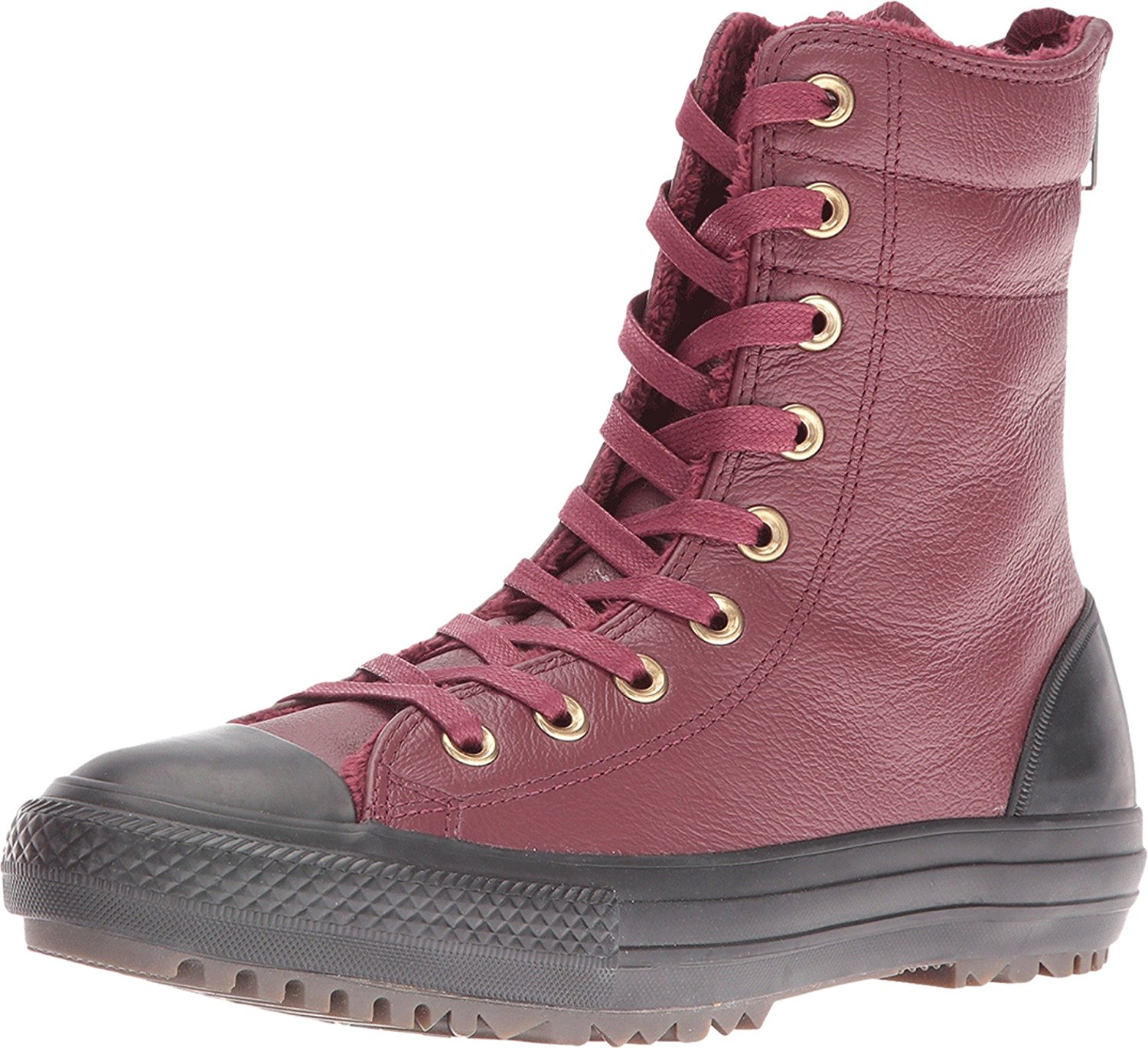 51ad88d3d58330 Get Quotations · Converse Womens Chuck Taylor All Star Leather + Fur  Hi-Rise Boot XHi
