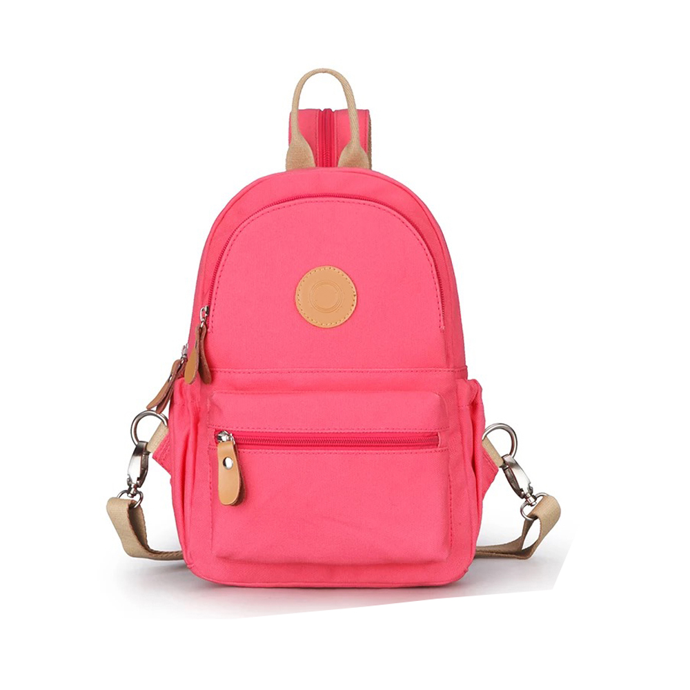 2016 fashion style mini canvas backpack leisure women backpack