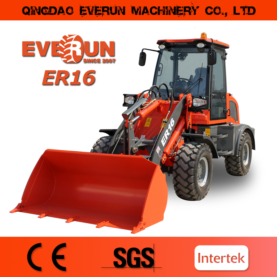 Everun 2017 ER16 Engineering & Construction Machinery high quality 1.6ton new design best price mini wheel loader