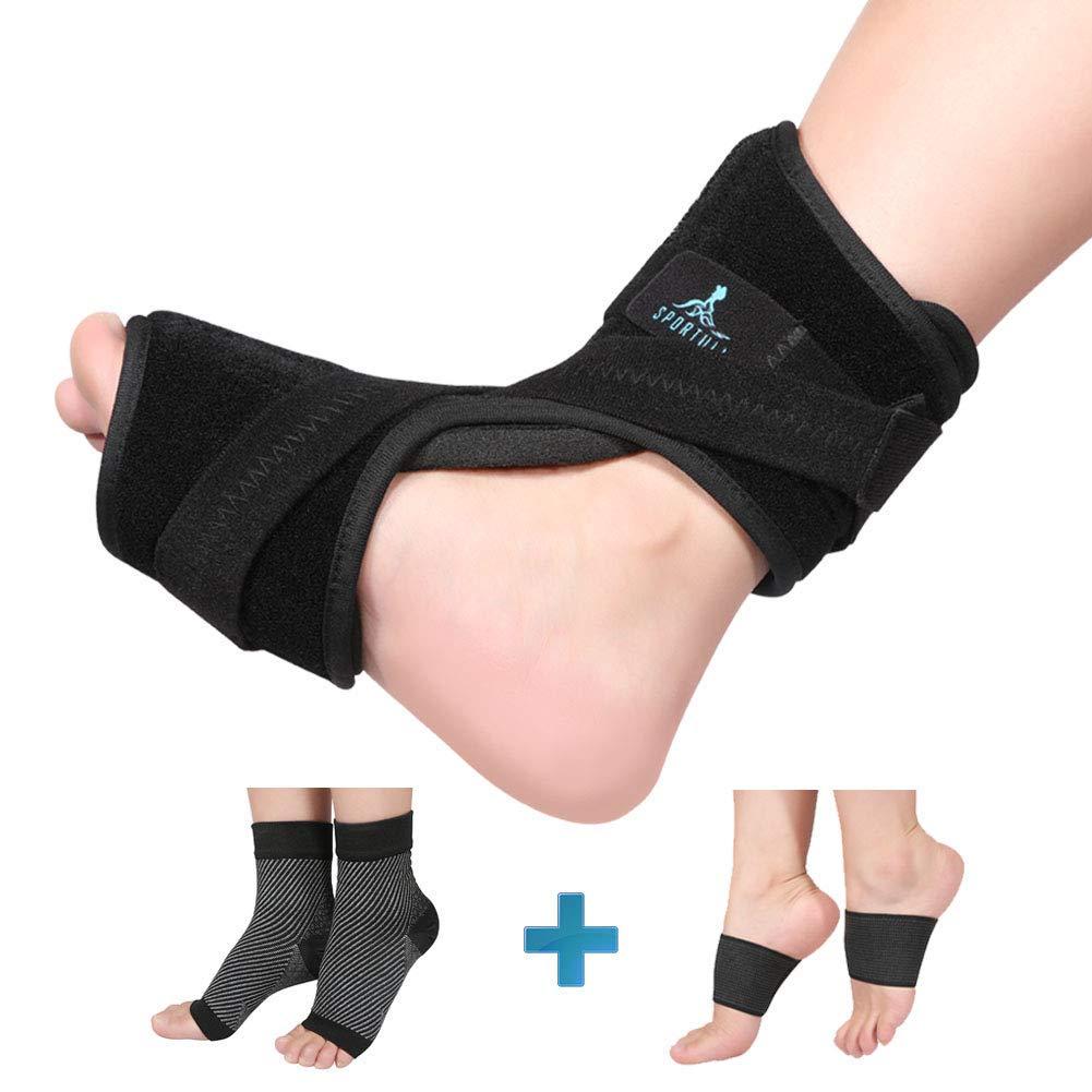 5e265652a6 Get Quotations · Plantar Fasciitis Night Splint Dorsal Drop Foot Orthotic  Brace Plantar Fasciitis Pain Relief Sleep Support,