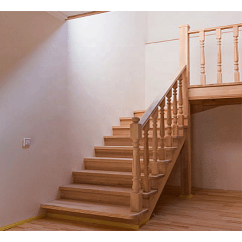Royal Solid Wood Stair Wooden Staircase Railing Designs India