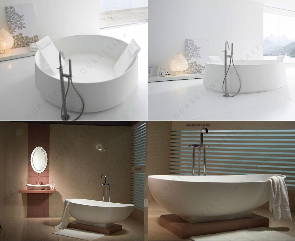 Cultured Marble Shower Pan Shower Surround Round Stone Bathtub