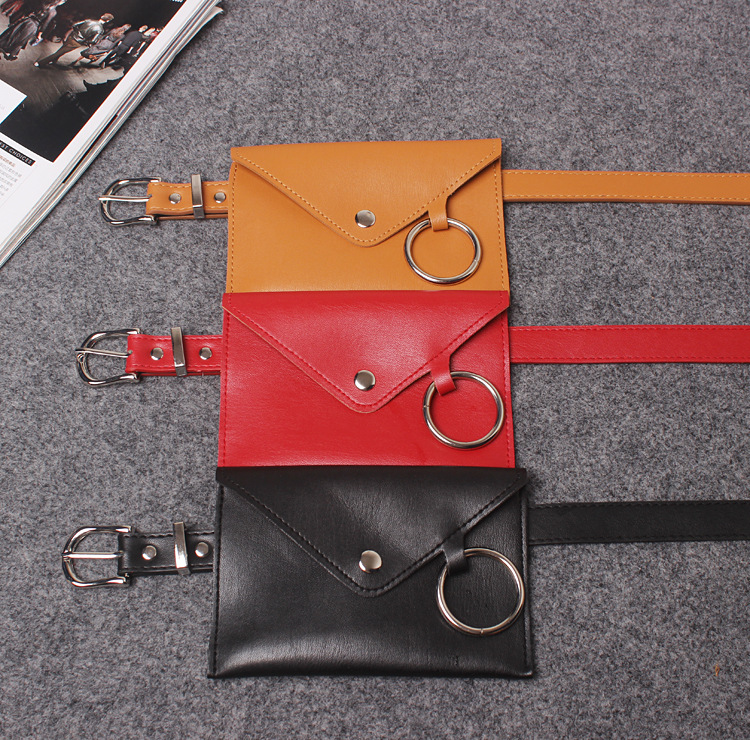 NJ1693 New design leather fashion women waist bag belt