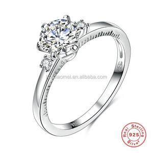 China factory supply Luxury Zirconia Ring 925 Sterling Silver Ring China Wholesale Women Wedding Rings