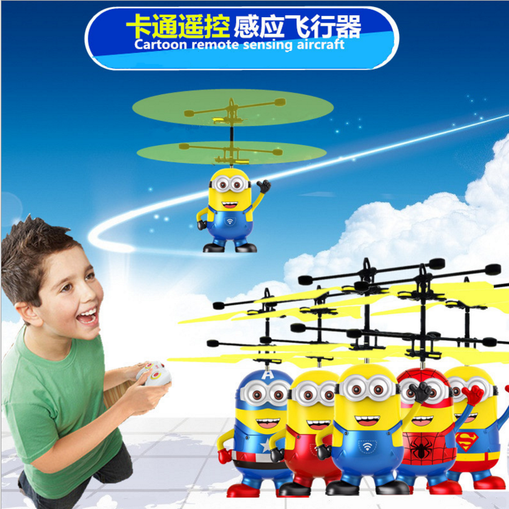 Top selling Amazon MINI cartoon children's gift remote control aircraft flying toy air plane