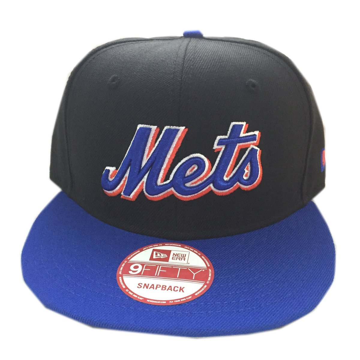 New Era New York Mets MLB Basic Snapback Original Team Color Adjustable 950 Cap Royal Blue