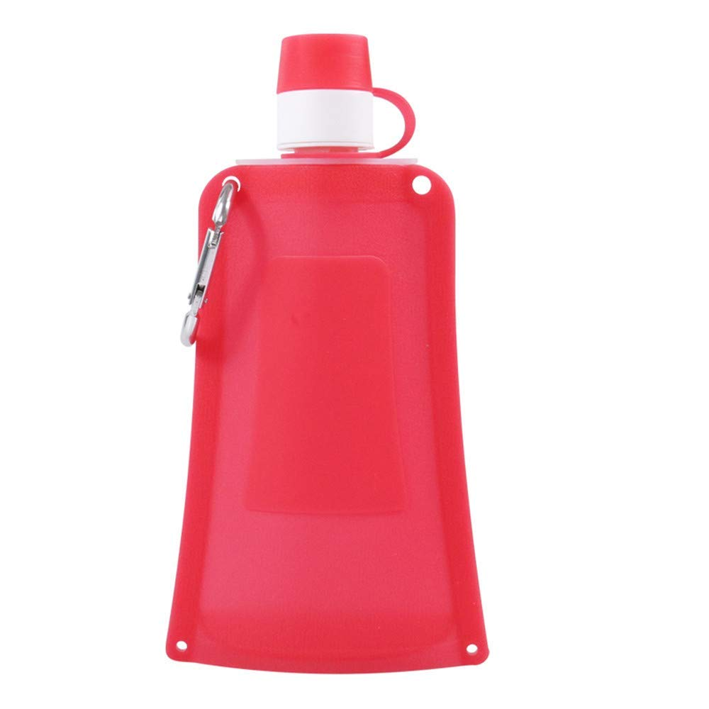SAMZUEO Portable Collapsible Water Bottle Extra Durable Carabiners.For Perfect Hiking Outdoor Travel-Leak Proof Twist Cap-BPA Free,16oz