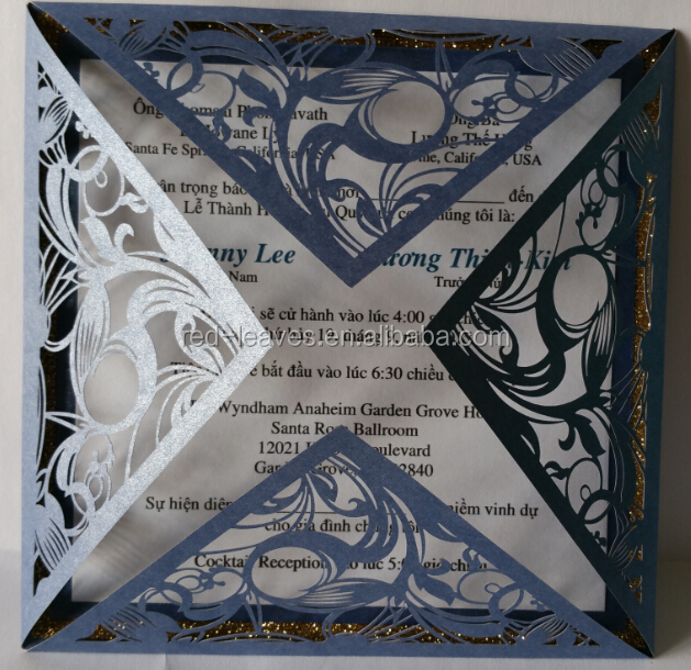 Alibaba Wedding Card Suppliers Paper Cutting Visiting Card Luxury – Luxury Party Invitations