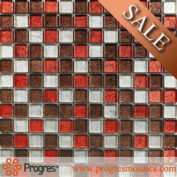 Innen Decor Mix Farbe Rot Grau Weiß Mix MosaikfliesenChip Größe - Mosaik fliesen größe