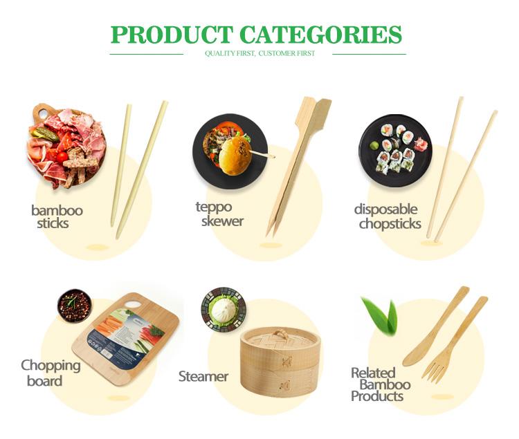 Umweltfreundlicher Golf Kabab Natural Double Bamboo Stick für Sushi