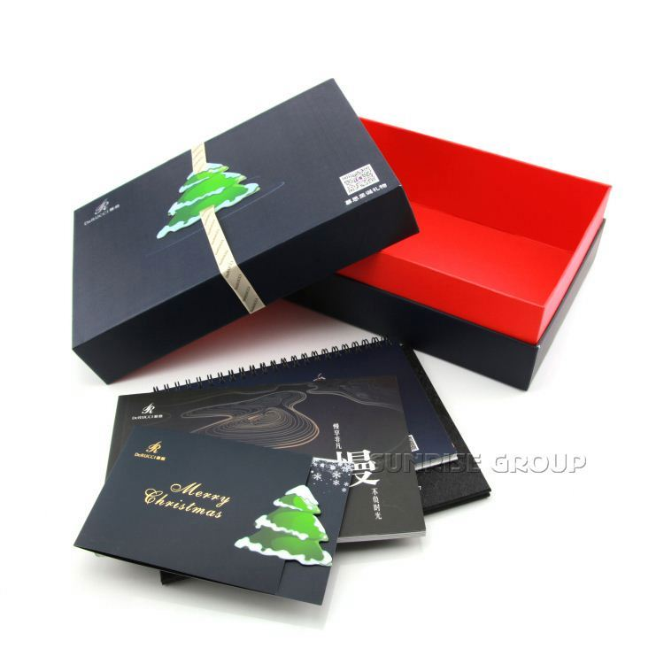 China Factory Direct Wholesale Custom Logo Printed Paper Christmas Gift Box
