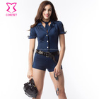 Corzzet Halloween Costume Sexy Outfit Woman Cosplay Police for Women