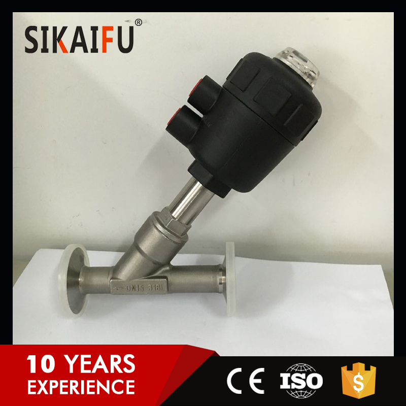 Y Type Safety Tri-Clamp Angle Seat Valve For Oil Industry