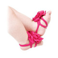 SCYL New Baby foot bands baby accessories girls Shoes bands Flower Design Infant Shoes Cotton Barefoot