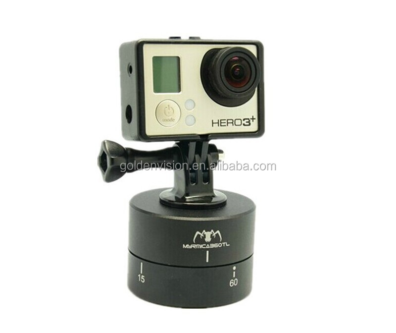 MYRMICA 360TL Time Lapse Pan and Tilt Head / 360 Degree Auto Rotation Camera Mount for GoPro