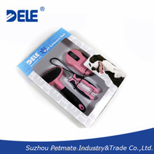 New products 3 pcs dogs grooming set pet grooming kit includes retractable dog leash pet nail clipper cleaning brush