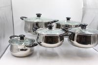 Stainless Steel Cooking Casserole Pot Set High Quality Palm Restaurant Cookware