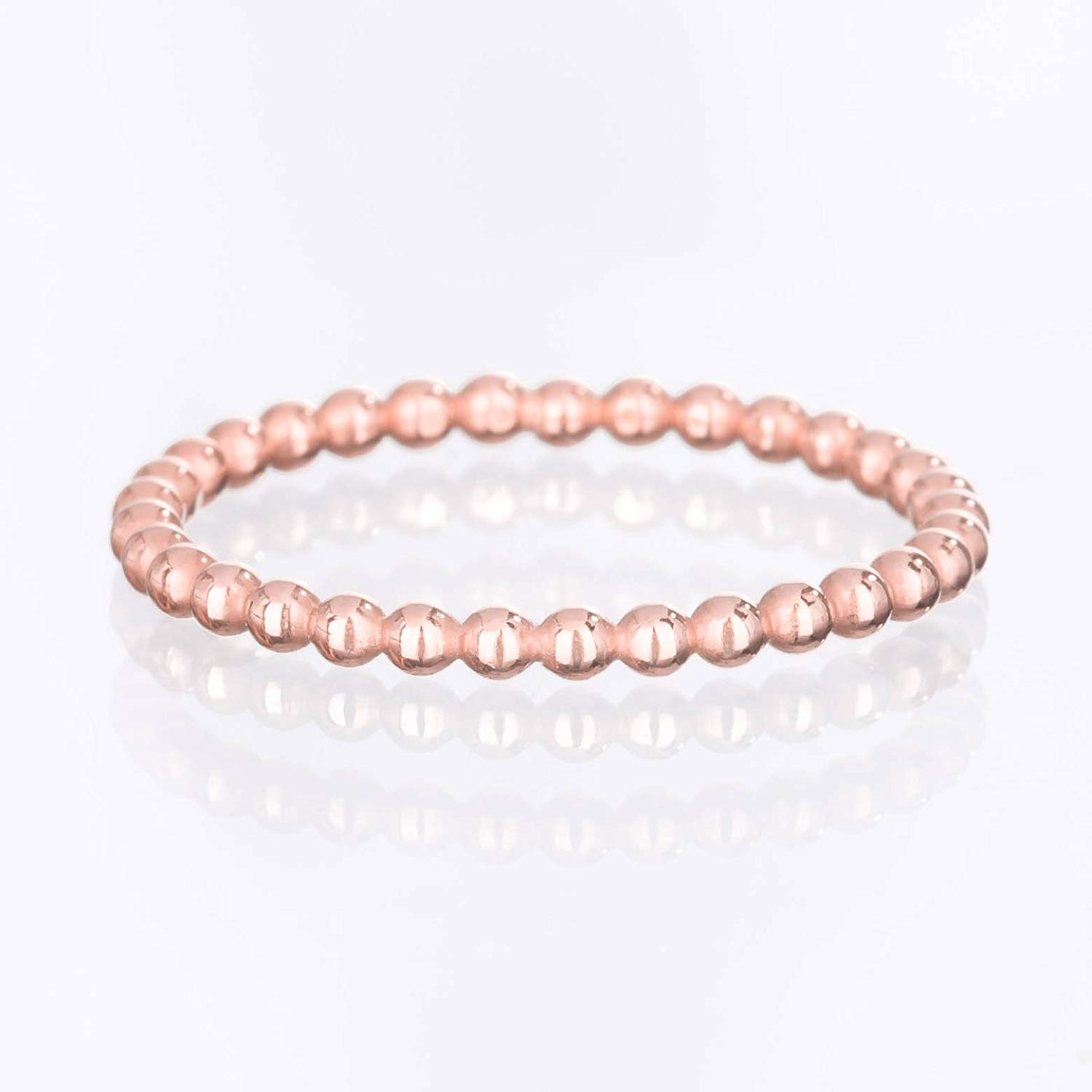8f63575f0a Get Quotations · Dotted Stacking Ring, Size 8, 14k Rose Gold Filled with 24k  Dip