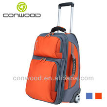 Conwood CT022 Orange travelling luggage trolley bag