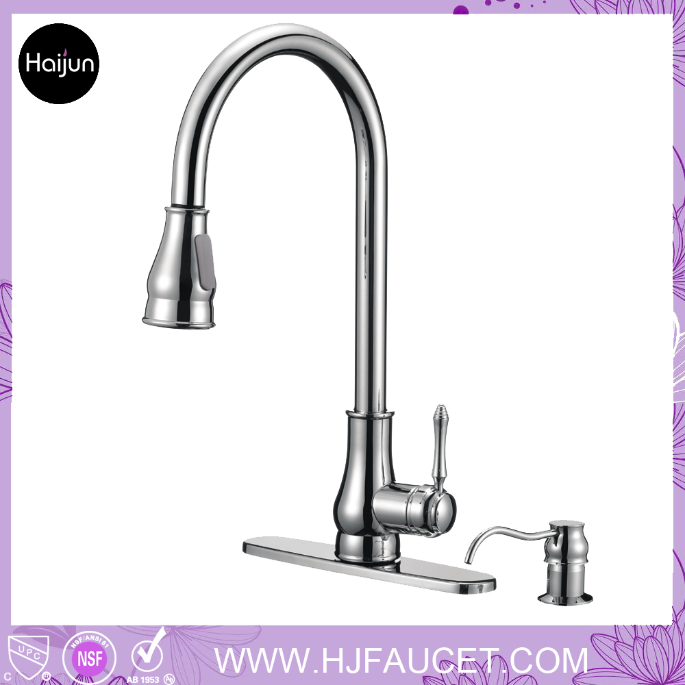 Deck Mounted Upc Kitchen Faucet Parts With Soap Dispenser