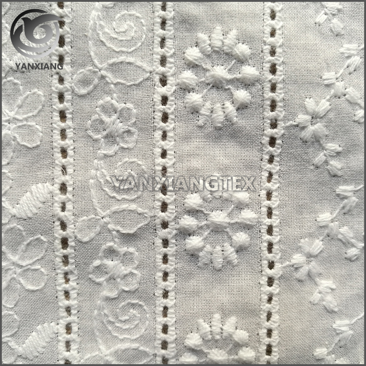 Fashion cotton jacquard muslin lace fabric