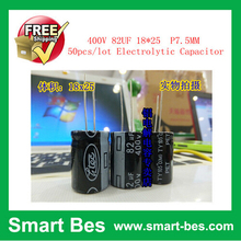 Free shipping ~50PCS/lot Smart Bes~ good quality 400V 82UF 18*25 P7.5MM Electrolytic Capacitor