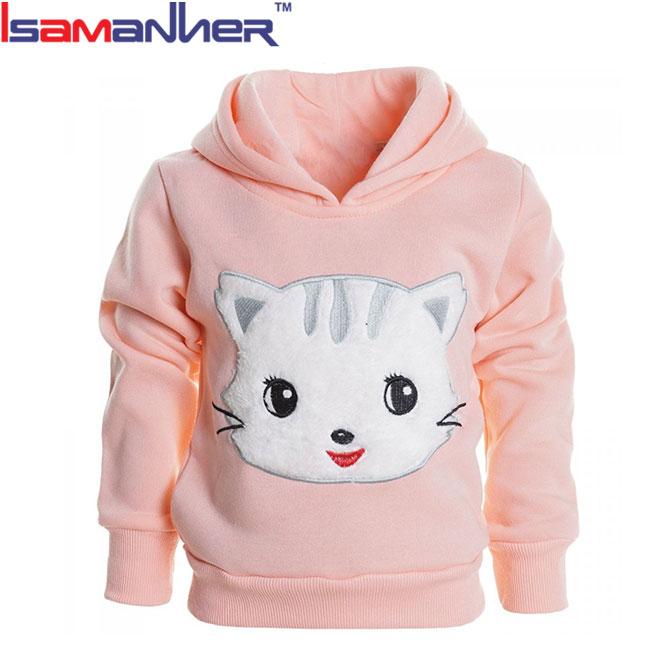 Inverno dei bambini all'ingrosso maglione oversize ragazze hoodies