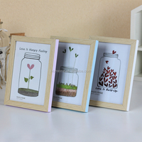 colorful fancy photo frame 4R wood picture frame