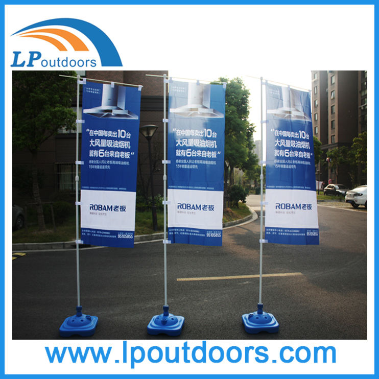 3M Outdoor Advertising Banners Telescopic Flag Pole With Water Base