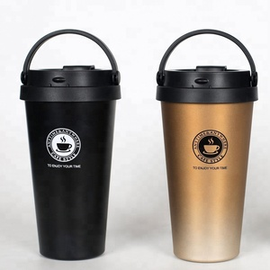 reusable coffee vacuum sealed stainless steel korean camping water cup