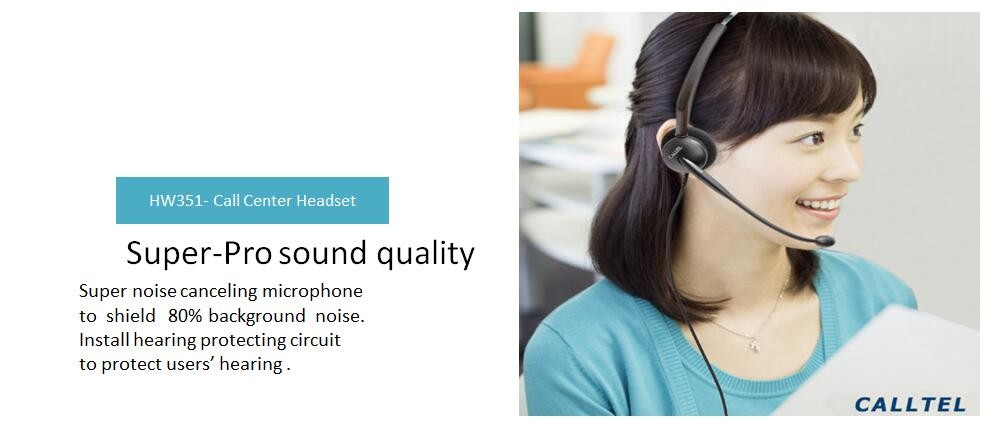 Professional Call Center Telemarket Use and Headband Style VOIP telephone headset equipment Compatible with Awaya