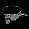 Wholesale Custom Shape Inspirational Bangles with Charm Pendant