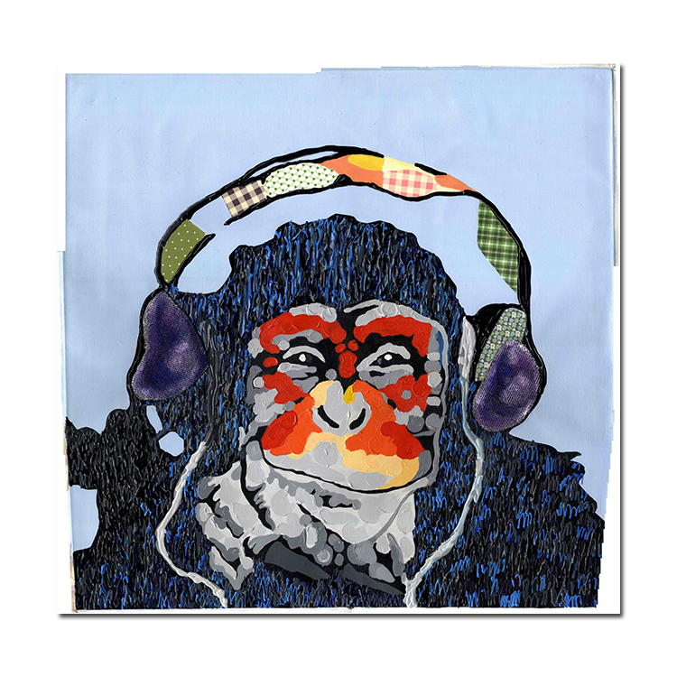 Watercolor abstract animal gorilla Popular Print Canvas Wall Art Animal Pop Art Paintings