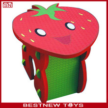 Kids stawberry design eva foam table and chairs