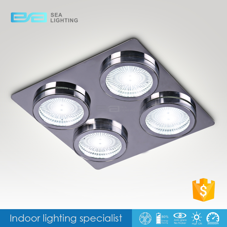 Recessed Garage Lighting Fixtures: Ultra-thin Recessed Led Ceiling Lights Square Glass Led