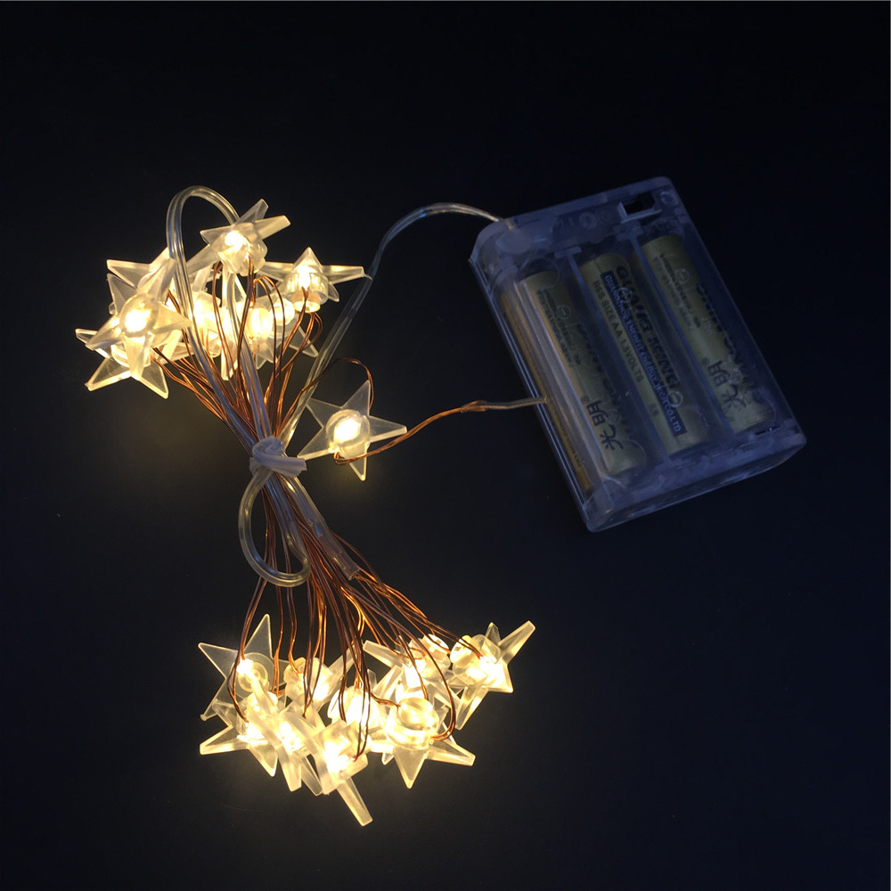 Easter Holiday Red Shooting Star Warm White Copper Wire Micro Mini Led String Sparkle Christmas