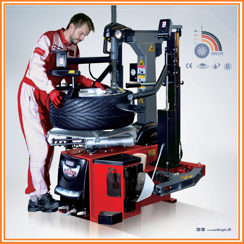 Tilt Back CE Certified BrightTire Changer GT895N With Dual Press Press Arm