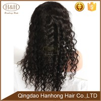 Black Afro Kinky Curly Best Wholesale afro full lace human hair wigs for men