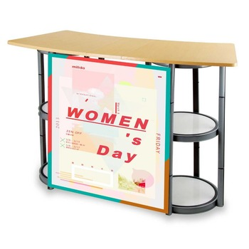 Aluminium Structure Wooden Top Folding Table Buy Folding Table Folding High Top Table Twist Tower Folding Table Product On Alibaba Com