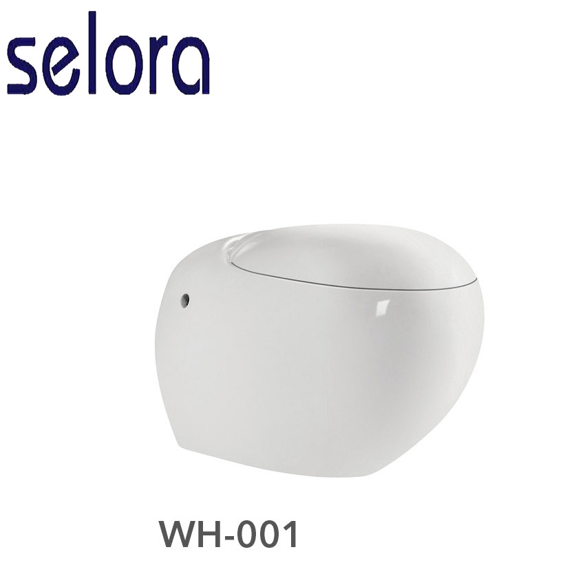 european modern ceramic round shape wall-hung toilet for pissing