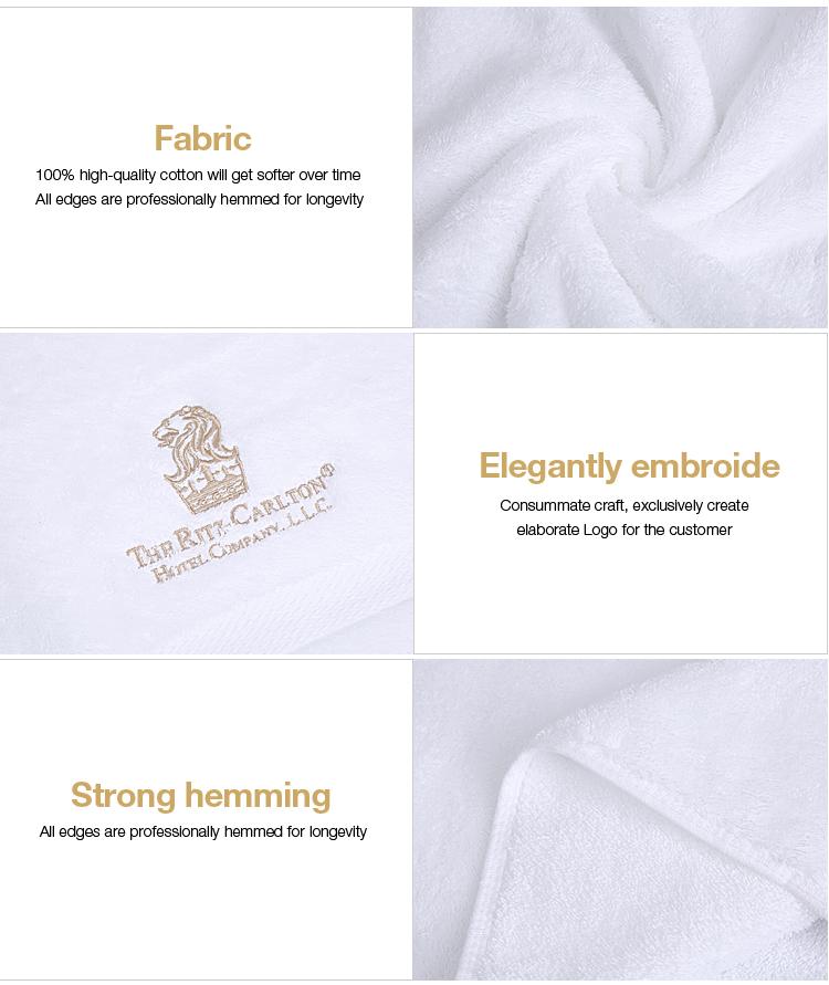 Khách Sạn Khăn Set Thêu Biểu Tượng Màu Trắng 100 Cotton Mặt Khăn Tắm Khăn