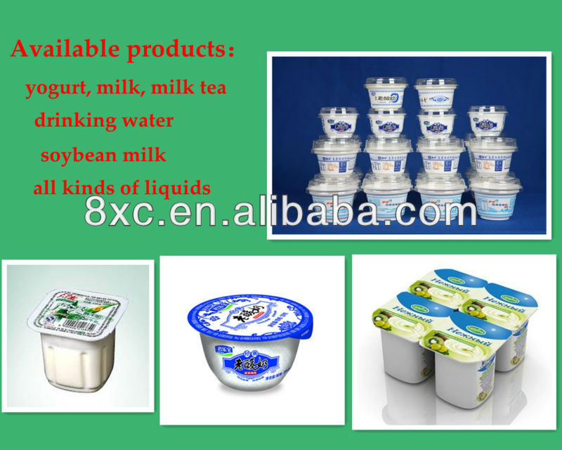 high standard full automatic yoghurt cup machine