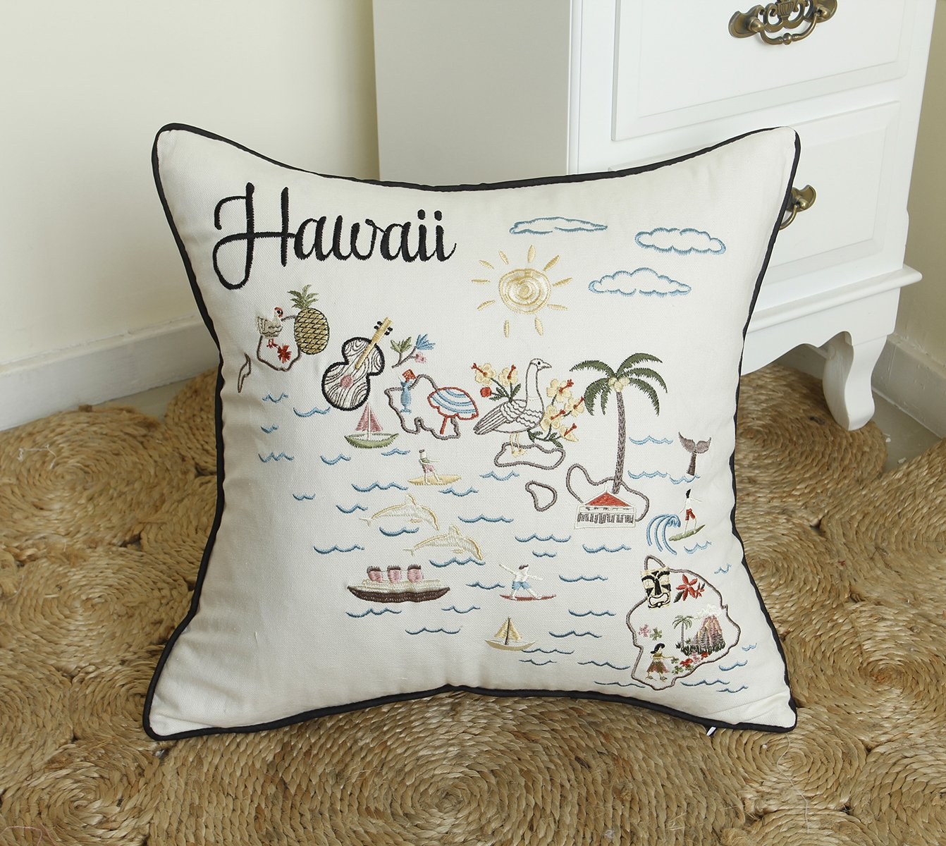 Hawaii Honolulu Hawaii Souvenir with Tiki Statue and Tropical Flowers - T-Shirts 3dRose Macdonald Creative Studios