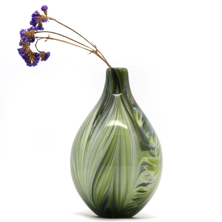 Wholesale Beautiful Color Cylinder Glass Trumpet Vase Home