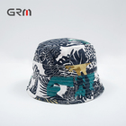 Custom Two Sided All Over Printed Cotton Fishing Bucket Hat For Children