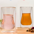 Tea Glass Double Wall Drinking Glasses Thermal Tumbler Cup for Turkish Coffee Pot